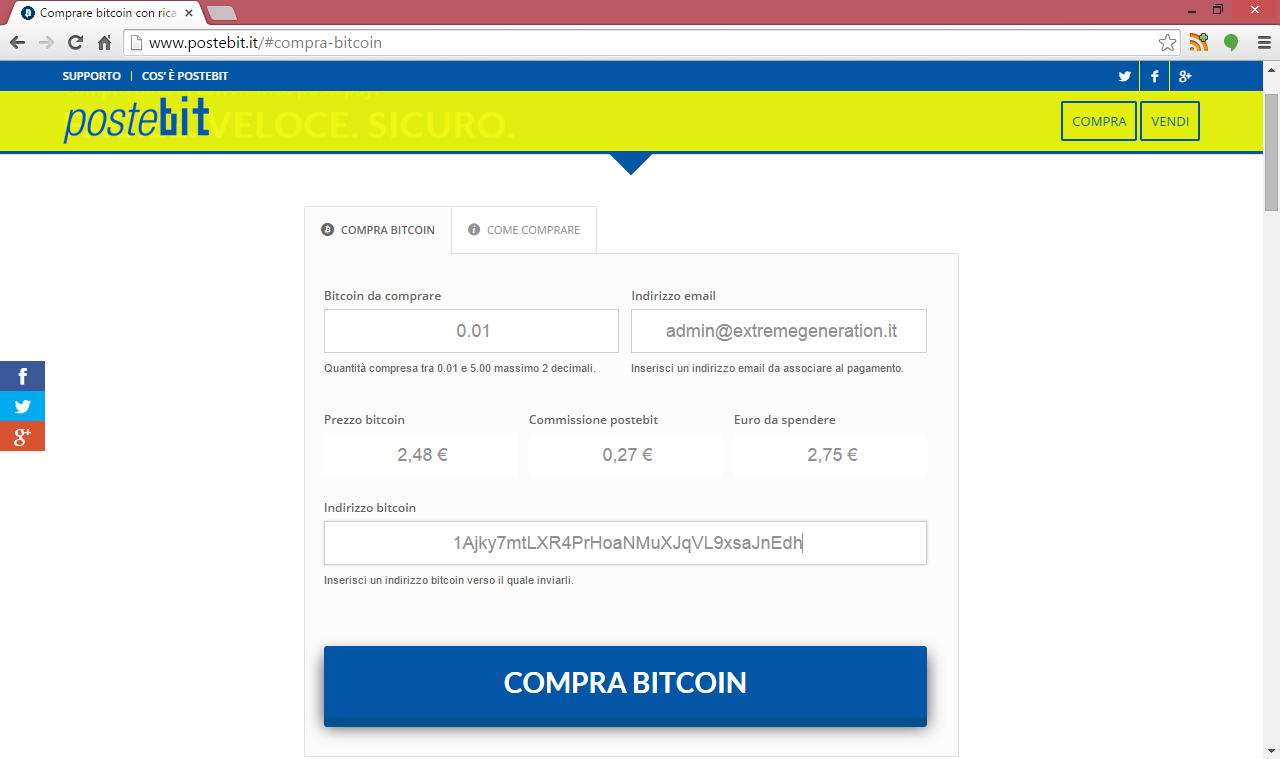 Bitcoin stock price today canada