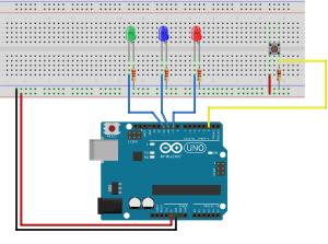 Figura 2: Schema collegamenti sulla breadboard.